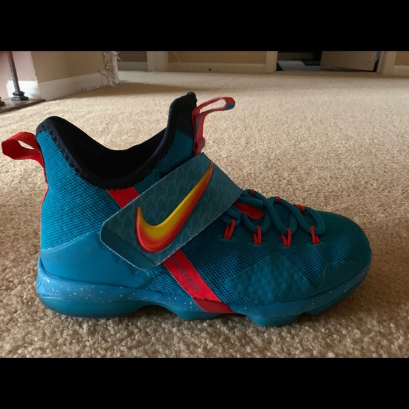 sale retailer d9513 14e61 Nike Lebron 14 Cocoa Beach Boys Shoes